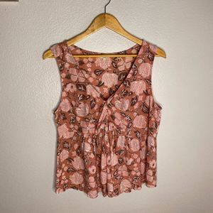 Lucky Brand Floral Baby Doll Tank